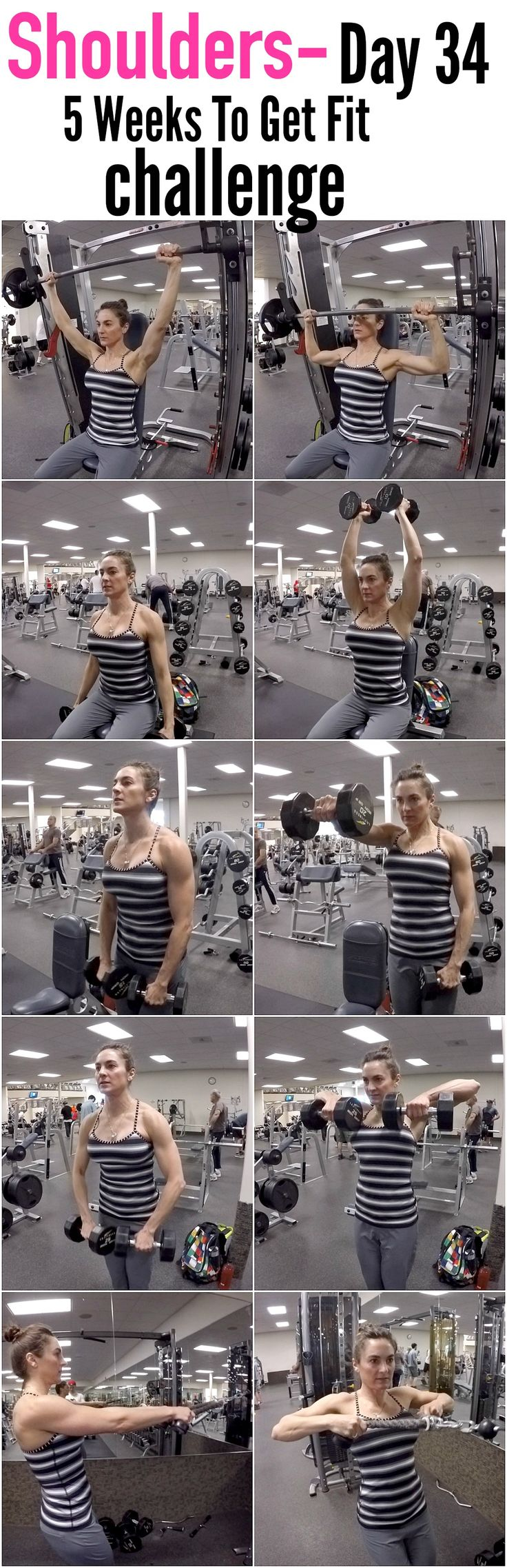 5 Weeks To Get Fit Challenge Day 34-SHOULDERS!