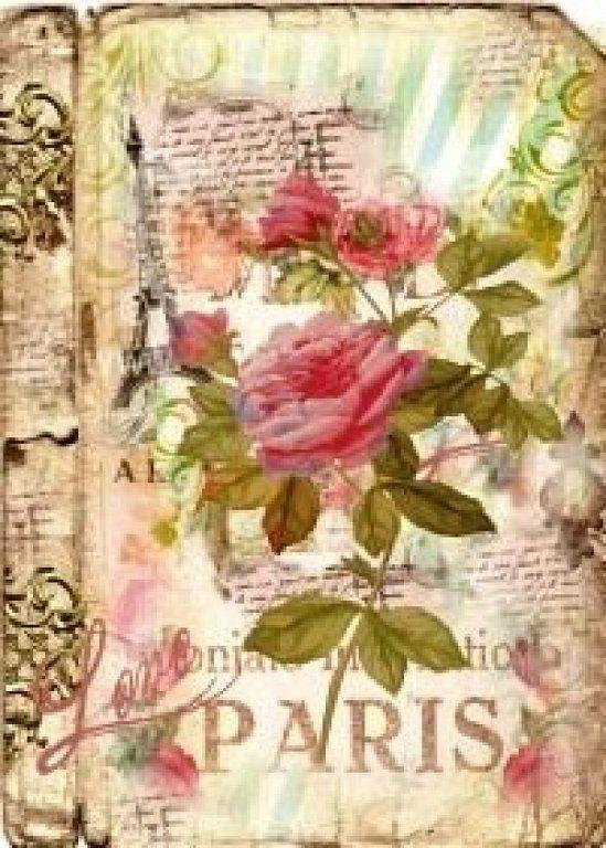 Mis Laminas Para Decoupage Manualidades Tags And Roses