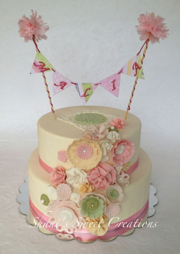 This Is A Fairy Cake For A Fairy Themed Birthday Party For