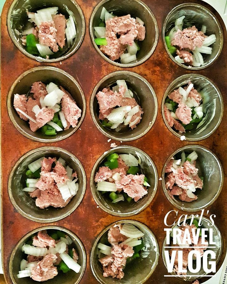 corned beef with green peppers and onions then pour beaten eggs and bake in oven...add cheese if you like #CarlsTravelVlog