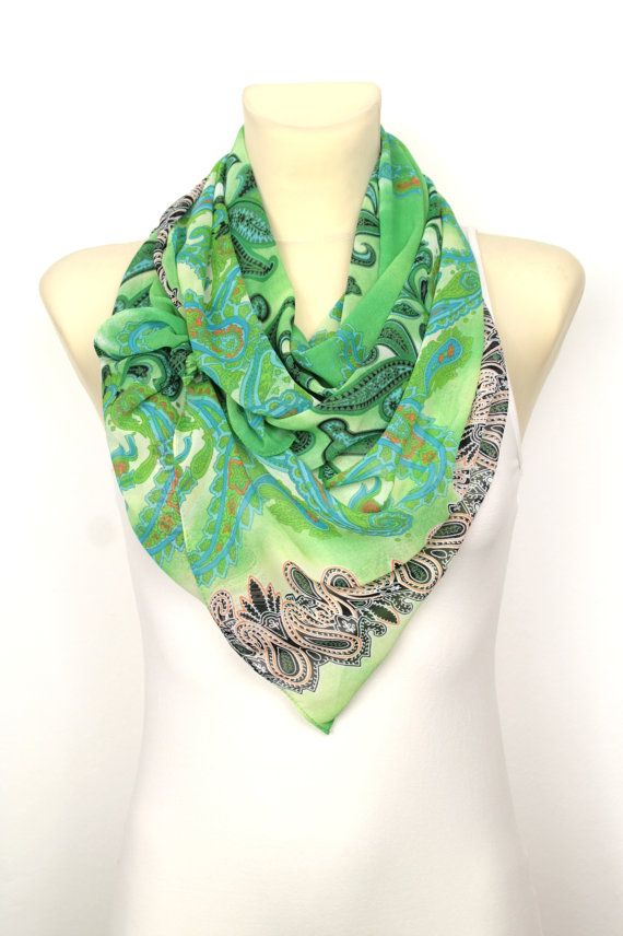 Floral Fashion #Scarf #handmade and available on #etsy now