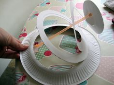 fixing the straw to a spiral cut paper plate and then decorate with colourful feathers, egg, chicken and rabbit shapes, glitter etc ...... ta da  an Awesome easter hat for the big parade