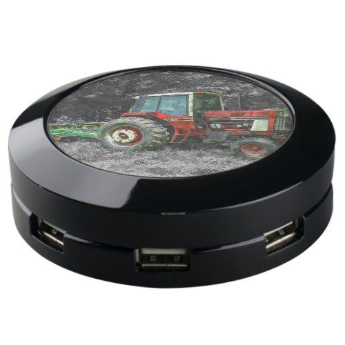 Old International Tractor Painterly USB Charging Station
