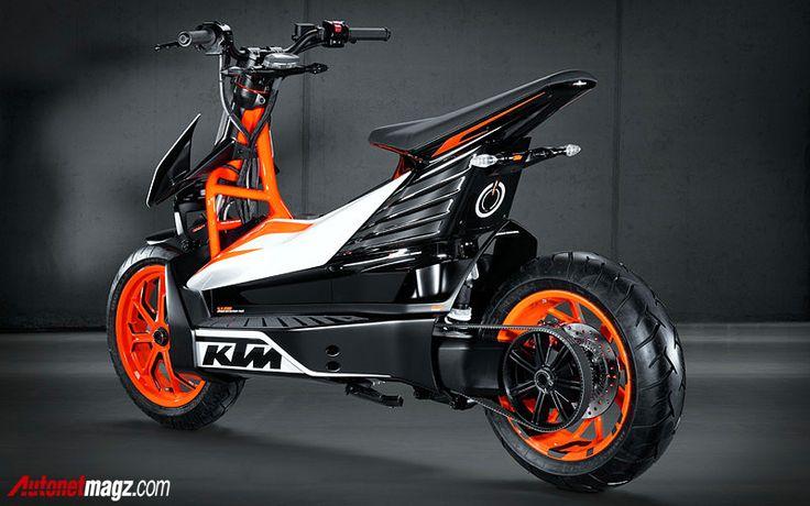 Berita, KTM E-Speed motor listrik tampak belakang: Skuter Listrik 'Off-Road' E-Speed dari KTM