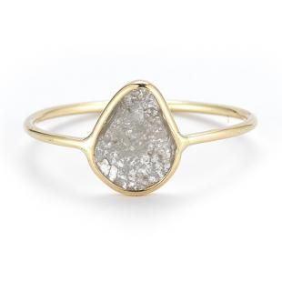 14K Large Diamond Slice Ring | Vale Jewelry  love the sixe, but again, no gold for me... perhaps a wider band too