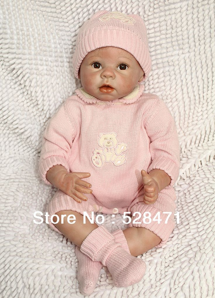 22 inches Silicone Vinyl Doll Reborn Toys with stuffed PP cotton body hand-rooted mohair red face reborn toddler $112.00