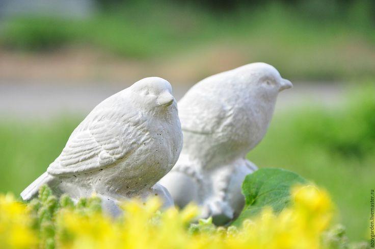 Купить Набор птичек на желудях из бетона Прованс Винтаж для дома и сада - интерьерное украшение