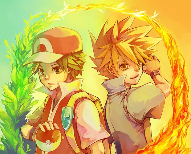 Pokémon FireRed and LeafGreen Artwork Gallery #pokespe #firered #leafgreen