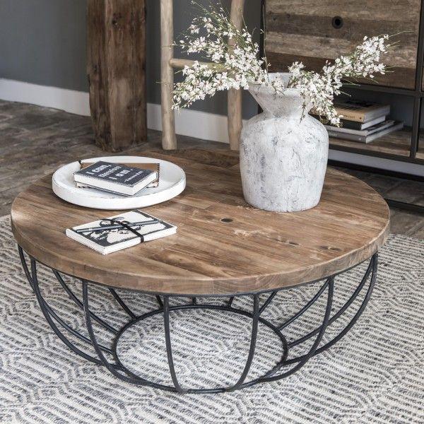Auswahl: 1 x Couchtisch MADISON Ø 80 cm Metall schwarz Ein Couchtisch zum Verlieben! Durch den offenen Metallrahmen wirkt der Tisch luftig und eign…