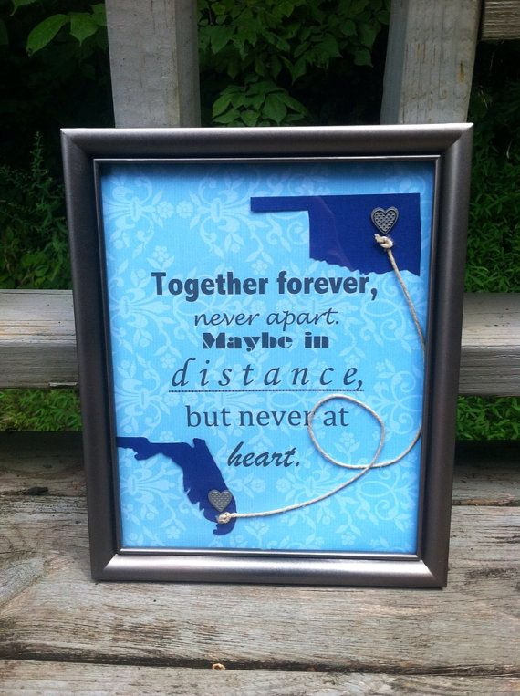 Long Distance  Personalized Framed Gift by DarlingDistance on Etsy