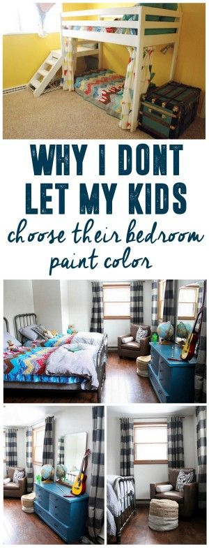 Why I don't Let My Kids Pick Paint Colors: A Neutral Modern Boys Room www.BrightGreenDoor.com