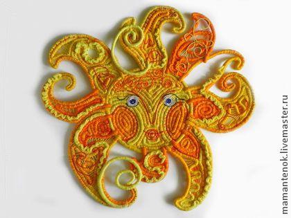 """панно """"Солнышко"""" - жёлтый,солнце,декоративное солнце,панно с солнцем,декор в детскую"""