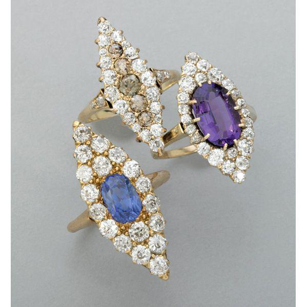 Some amazing vintage diamond rings