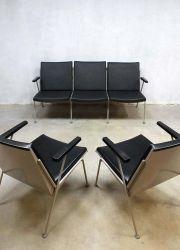 Mid century vintage design Oase lounge set Wim Rietveld sofa armchairs www.bestwelhipnl