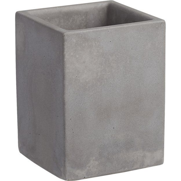 cement pencil cup  $6