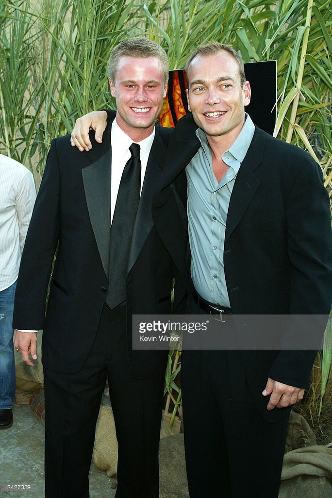 Actors Eric Nenninger and Jonathan Breck arrive at the premiere of 'Jeepers Creepers 2' at the...