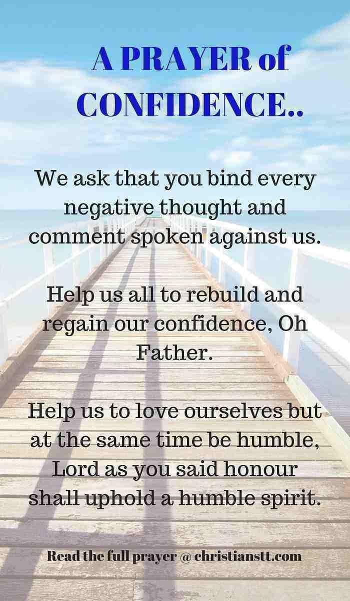 prayer for confidence