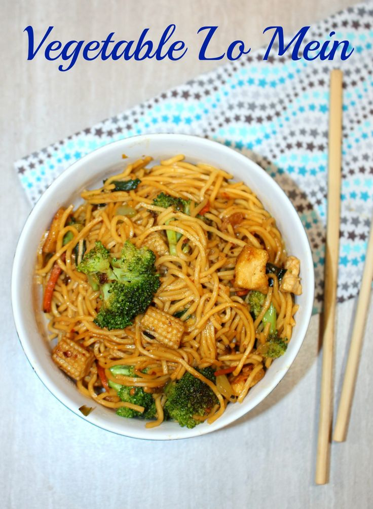 Vegetable Lo Mein - Chinese Vegetable and Tofu Lo Mein