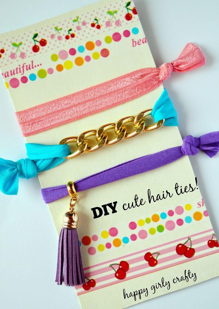 DIY cute elastic hairties 3 ways! / Φτιάξτο μόνη σου : λαστιχάκι για τα μαλλιά με 3 διαφορετικούς τρόπους!