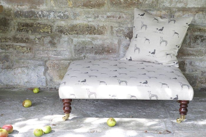 Emily Bond Long Dog fabric - amongst the apples
