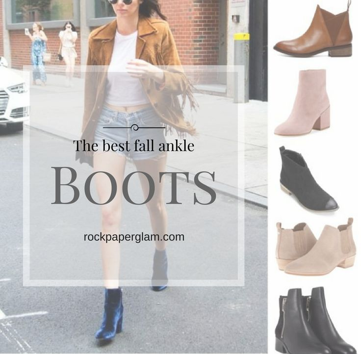 I have a feeling you'll like this one 😍 The Best Fall Ankle Boots You Can Wear Every Day http://rockpaperglam.com/fall-ankle-boots/