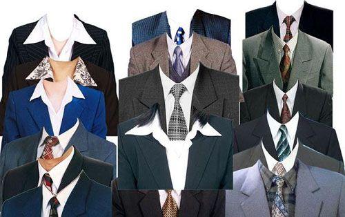 Шаблоны для Photoshop - Эллегантные мужские костюмы