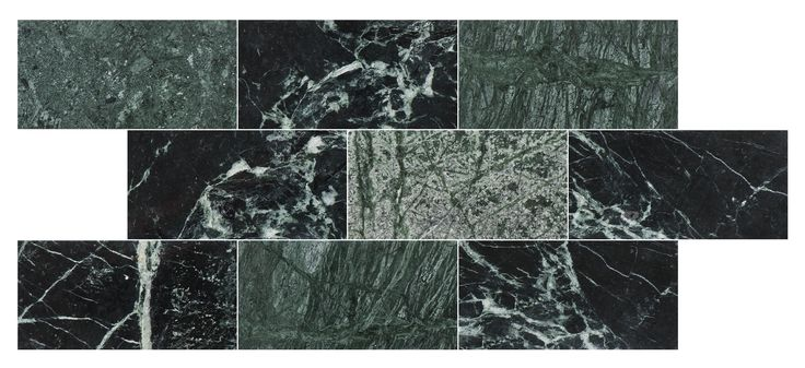 "U Brick Green Marble Polished, Grön marmor 7.5x15 #Subwaytile #Bricmate """