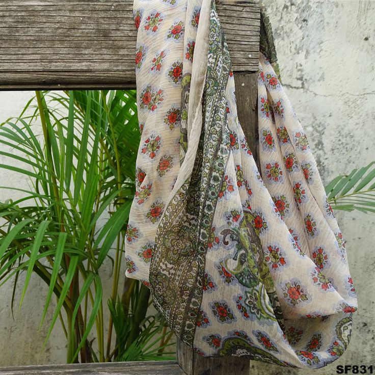 Fashion Women's Scarf Indian Soft Stole Printed Wrap Beige Scarves Hijab Sf831