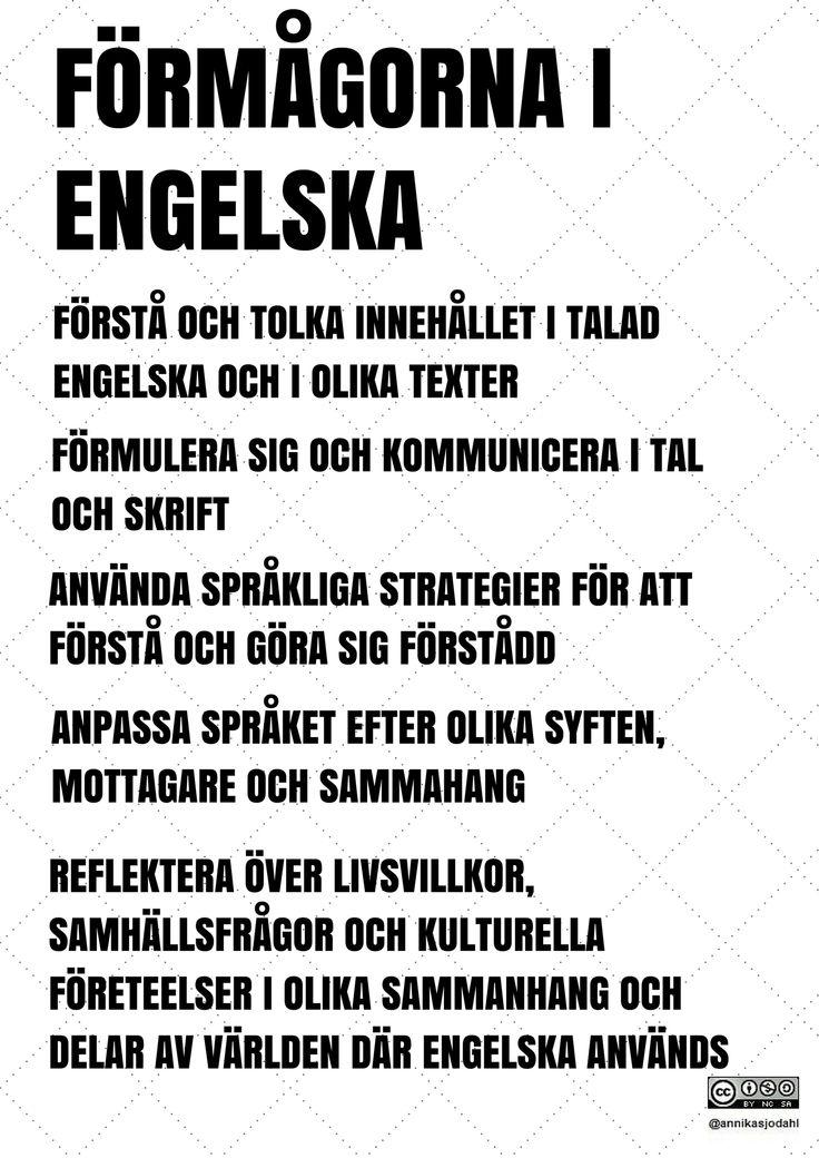 Förmågorna i engelska av Annika Sjödahl