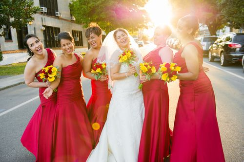 Red bridesmaid dresses - Andi Diamond Photography for Bisou Bride -  St Petersburg Florida