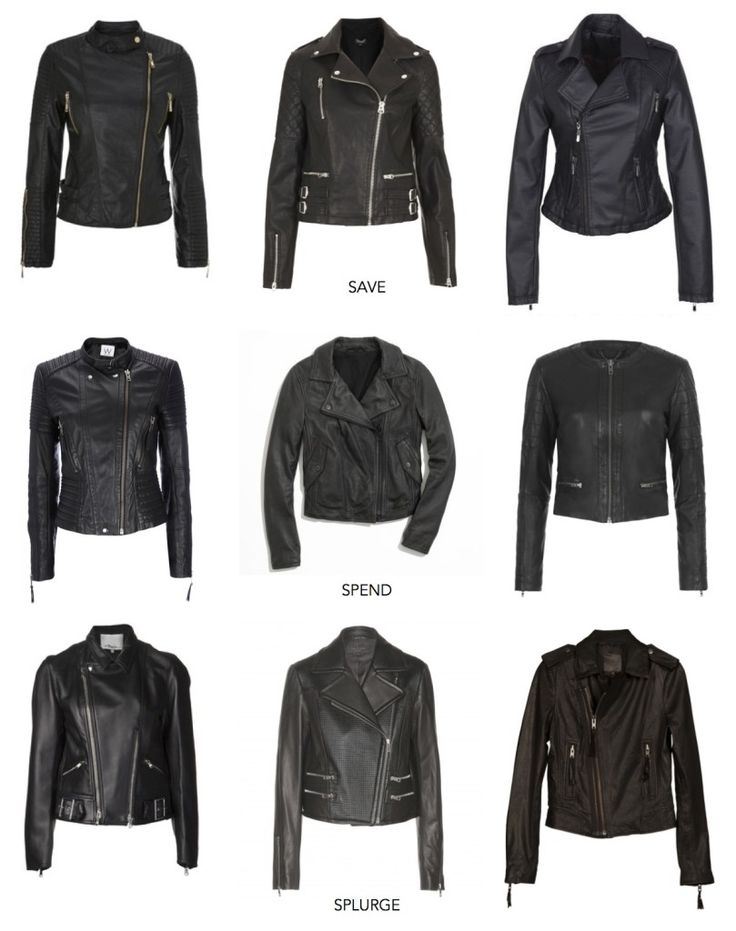 Save: House of Fraser, Top Shop, Delia's Spend: Wallis, Madewell, Free People Splurge: 3.1 Phillip Lim, Rag and Bone, Joie A black leather jacket should be a closet staple for every woman this fall...