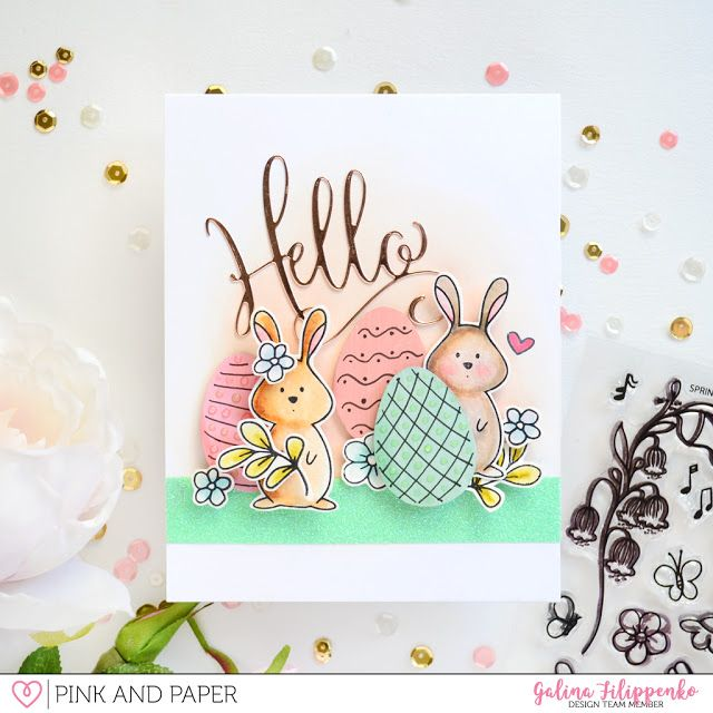 Easter card tutorial | Galina Filippenko