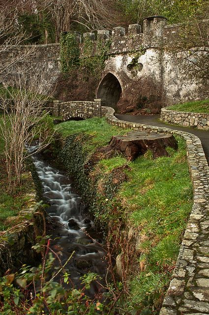 Medieval Castle, Tollymore Forest Park, Northern Ireland Tollymore Forest Park is located