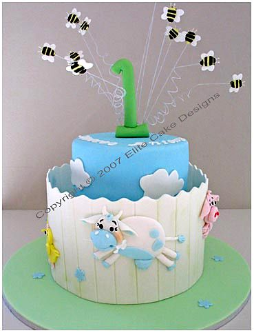 Farm Animals Baby Shower Cakes Sydney, Baby Shower Cake Designs, Christening Cakes, Specialty Cakes