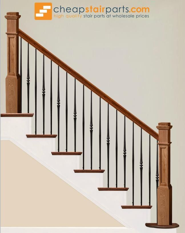 Best 2 6 7 Single Tapered Knuckle Iron Baluster In 2020 400 x 300