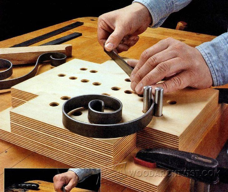 Scroll-Bending Jig - Woodworking Tips and Techniques - Woodwork, Woodworking, Woodworking Tips, Woodworking Techniques
