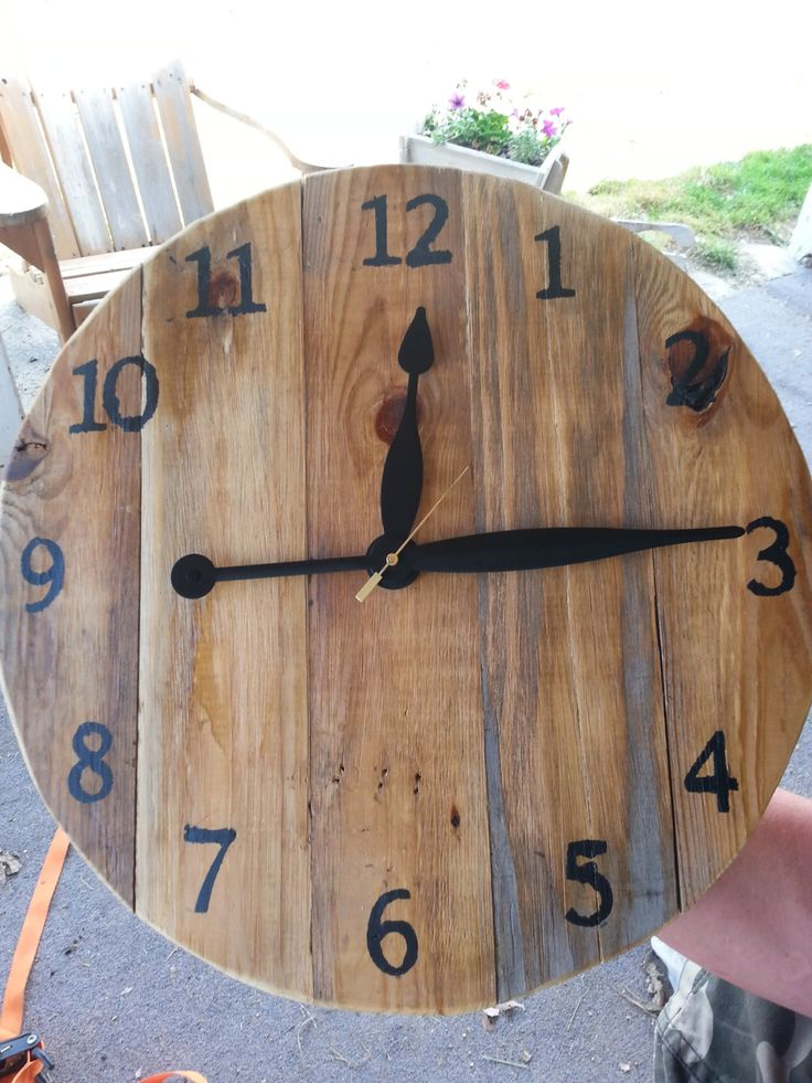 wooden wall clock by CraftsbyShyloh on Etsy, $50.00