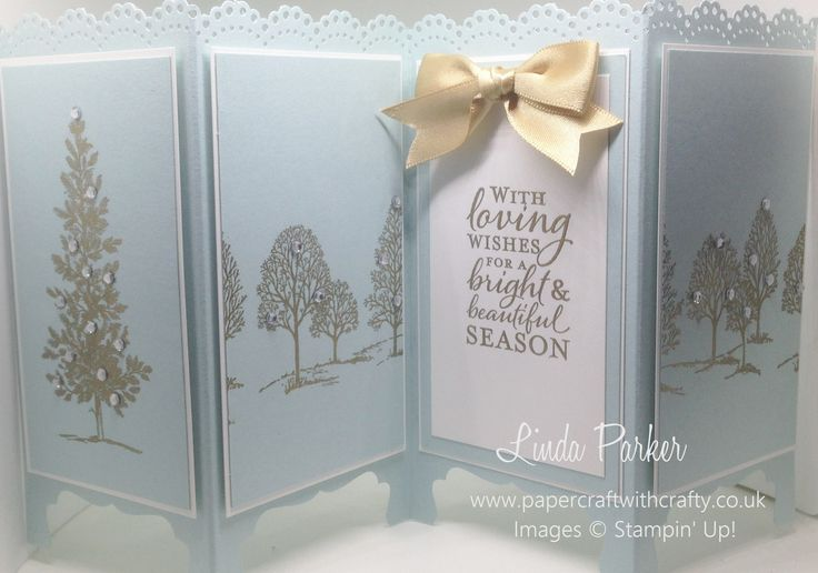 Screen Divider Card.  Christmas card.  Lovely as a Tree. http://www.papercraftwithcrafty.co.uk/2016/10/lovely-as-tree-screen-divider-card.html