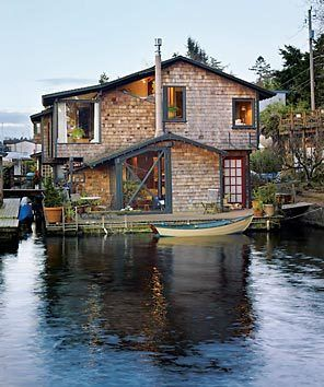 Best Floating Homes Images On Pinterest Floating House Boat - Awesome floating house shore vista boat dock by bercy chen studio