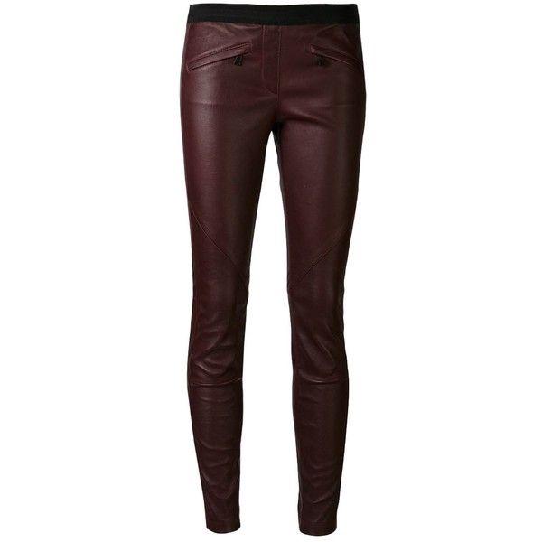 BELSTAFF 'Barlow' leggings (18 555 SEK) ❤ liked on Polyvore featuring pants, leggings, bottoms, jeans, calças, leather leggings, real leather leggings, oxblood leather pants, elastic waistband pants and stretch waist pants