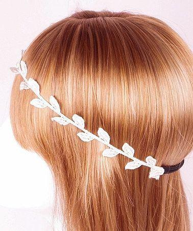 Look what I found on #zulily! White Grecian Bay Leaf Lace Headband #zulilyfinds