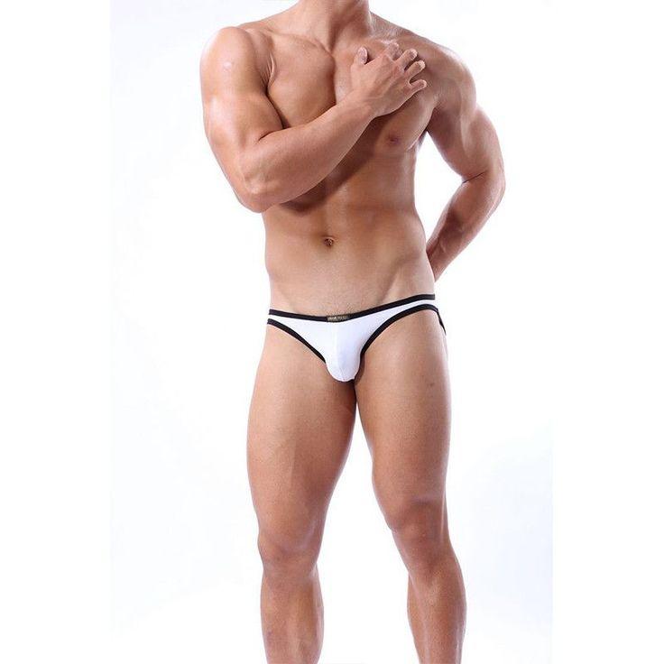 2016 Swim Sexy Briefs Mens Swimming Trunks Swimwear Men's design brief pink swimsuit black gay white man