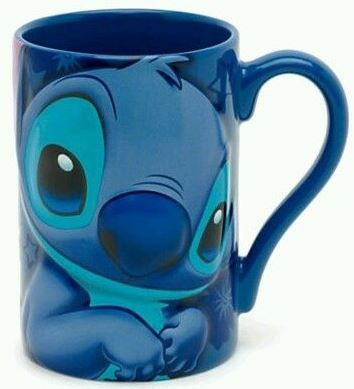 """Love this Disney Store Exclusive Stitch mug from the movie Lilo & Stitch. The back reads quite appropriately, """"I am so naughty!"""" #stitch"""