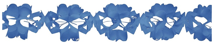 Creative Converting Blue Paper Tissue Garland - Free Shipping
