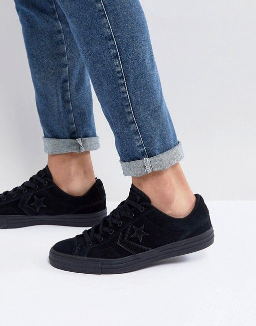 Converse Star Player Ox Sneakers In Black 159762C