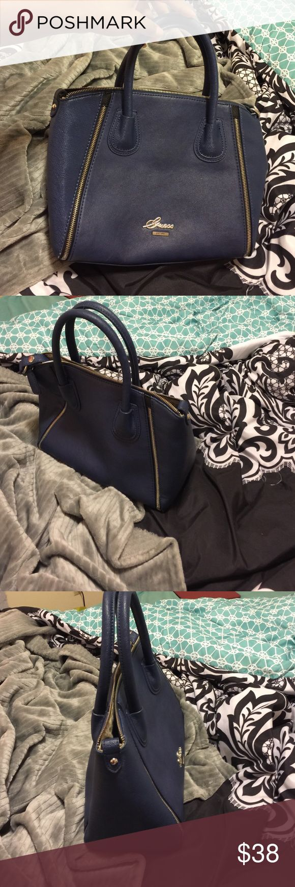 Guess handbag Brand new authentic guess bag. It has no flaws. It's beautiful because of the color 😍 feel free to make an offer . Designer handbags good quality. Just like Aldo  or Zara Guess Bags Satchels