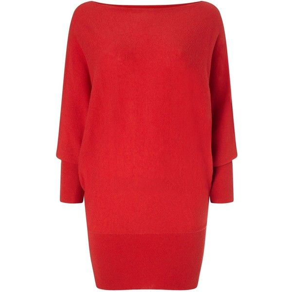 Phase Eight Britney Batwing Jumper (315 BRL) ❤ liked on Polyvore featuring tops, sweaters, clearance, red, red jumper, batwing sweater, red top, jumpers sweaters and batwing top