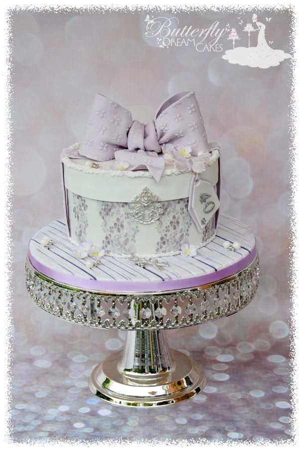 154 best gift hat jewellery box cakes images on pinterest a 40th birthday cake negle Choice Image