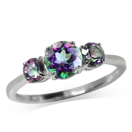 1.71ct. 3-Stone Mystic Fire Topaz 925 Sterling Silver Ring Size 6 * READ REVIEW @ http://www.finejewelry4u.com/store/1-71ct-3-stone-mystic-fire-topaz-925-sterling-silver-ring-size-6/?a=8905