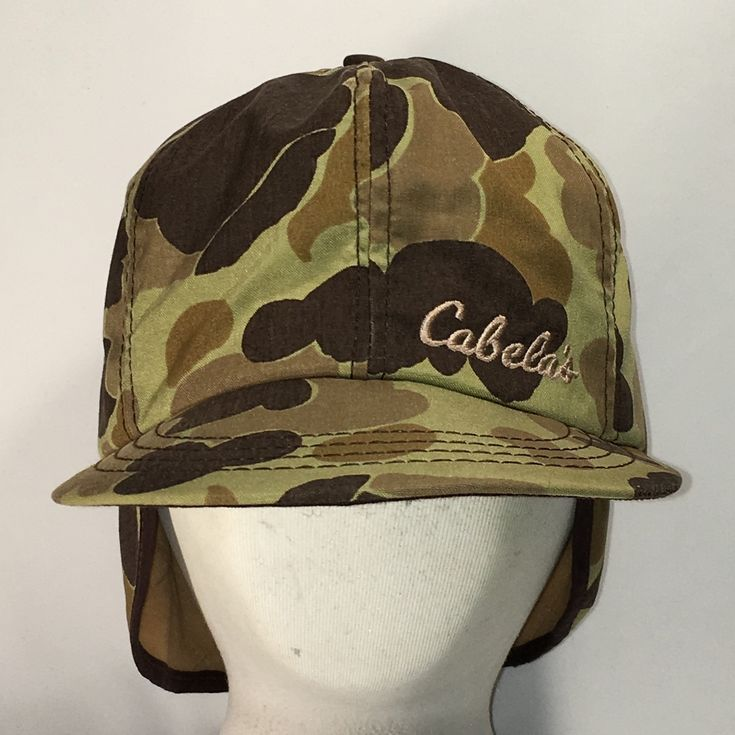 Cabelas Hats Caps: Cabelas Hunting Camo Hat With Ear Flaps Size Small Mens